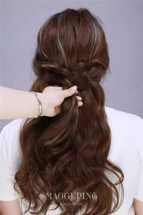 mum203 编辫子发型扎法图解 gif动态搞笑图片图片